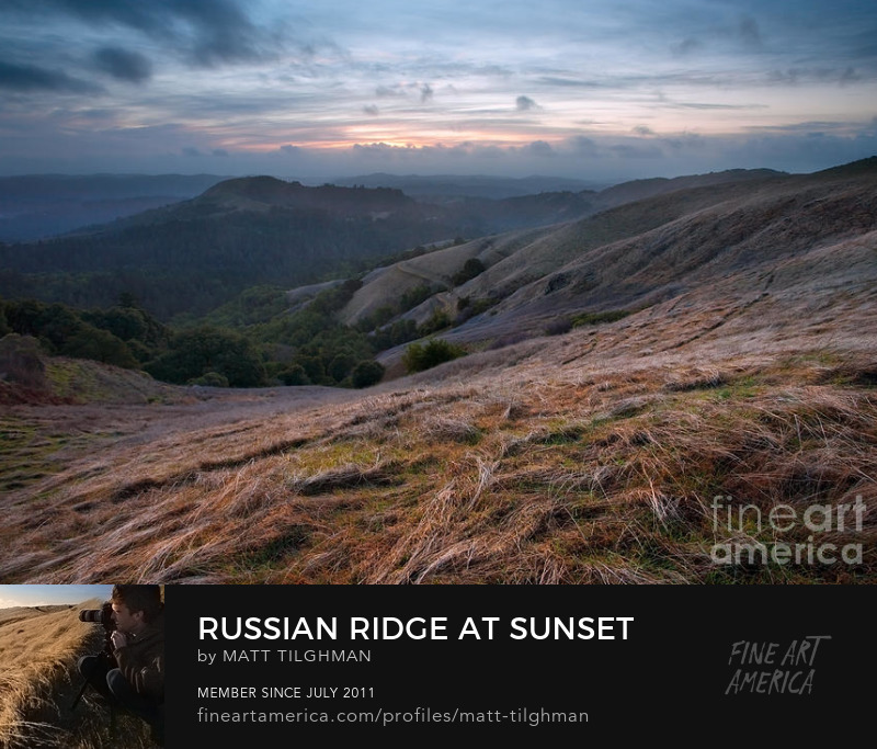 Russian Ridge California Winter Storm Art Print