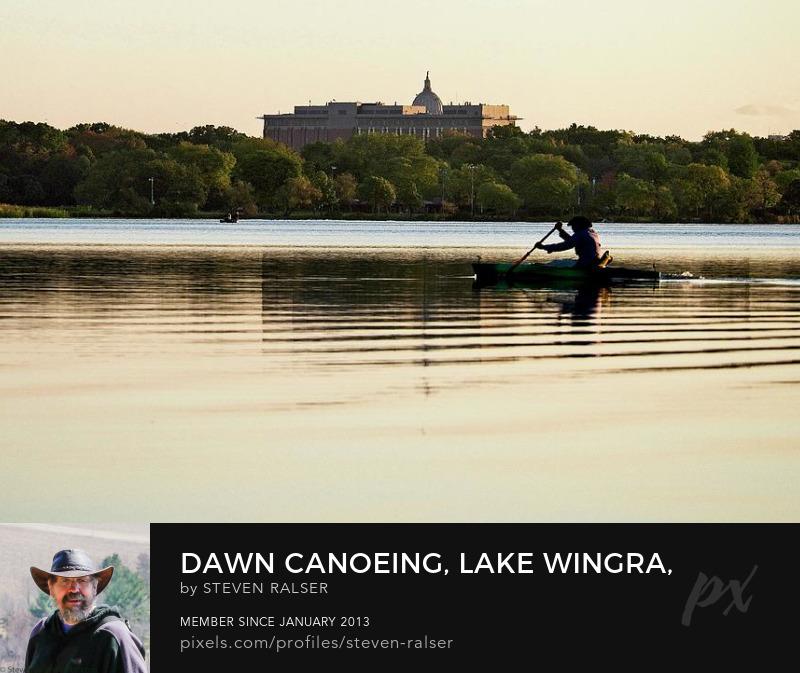 Dawn canoeing, Lake Wingra, Madison, WI