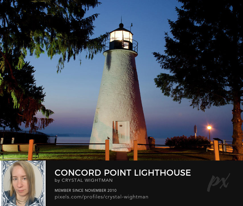 Concord Point Lighthouse at sunrise in Havre de Grace, Maryland,