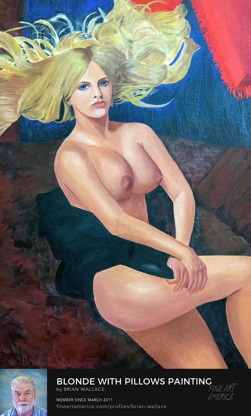 Blonde With Pillows Painting by Brian Wallace