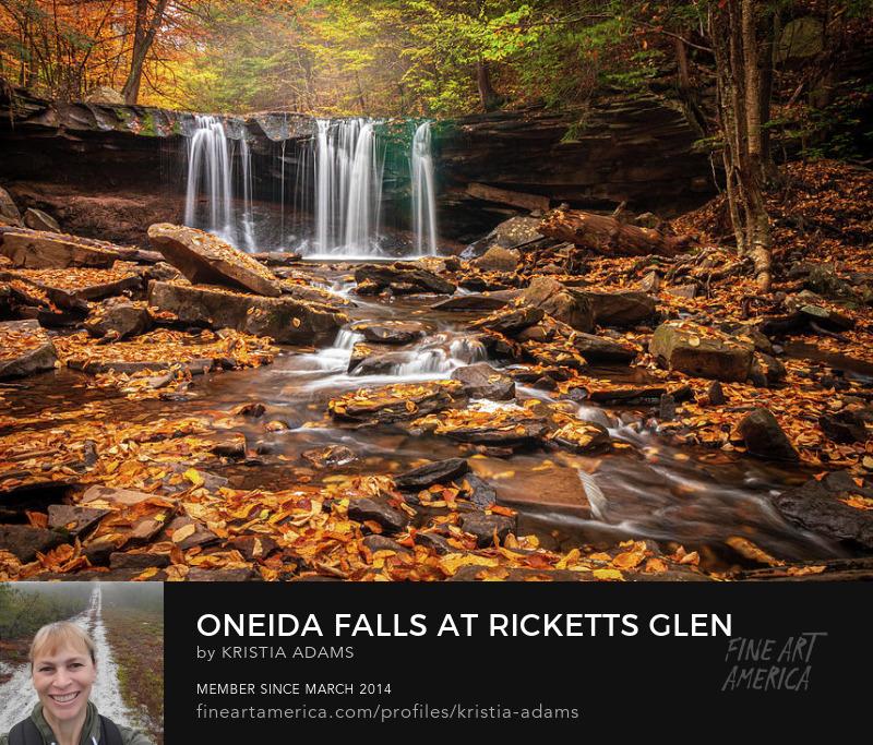 Ricketts Glen Oneida Falls Fall Colors Kristia Adams