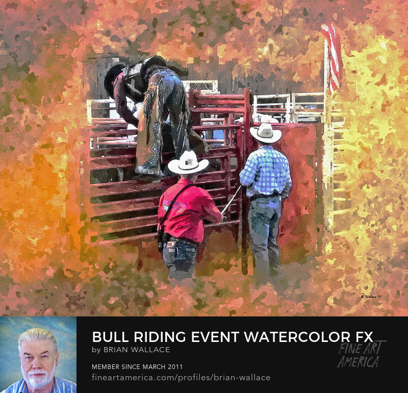 Bull Riding Event Watercolor FX by Brian Wallace