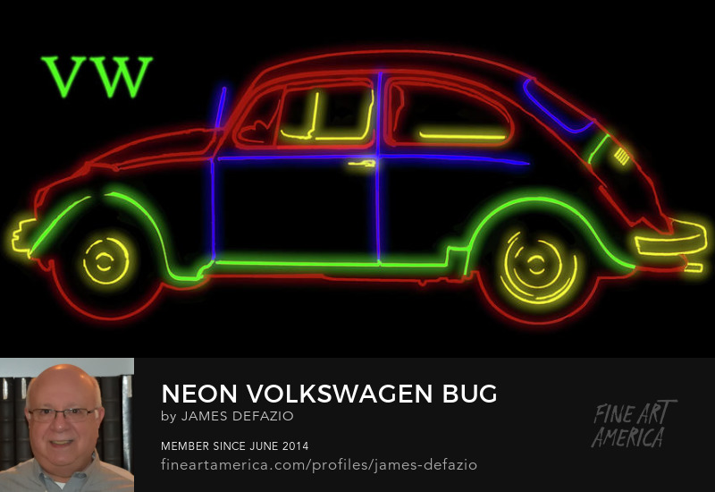 Neon Volkswagen Beetle