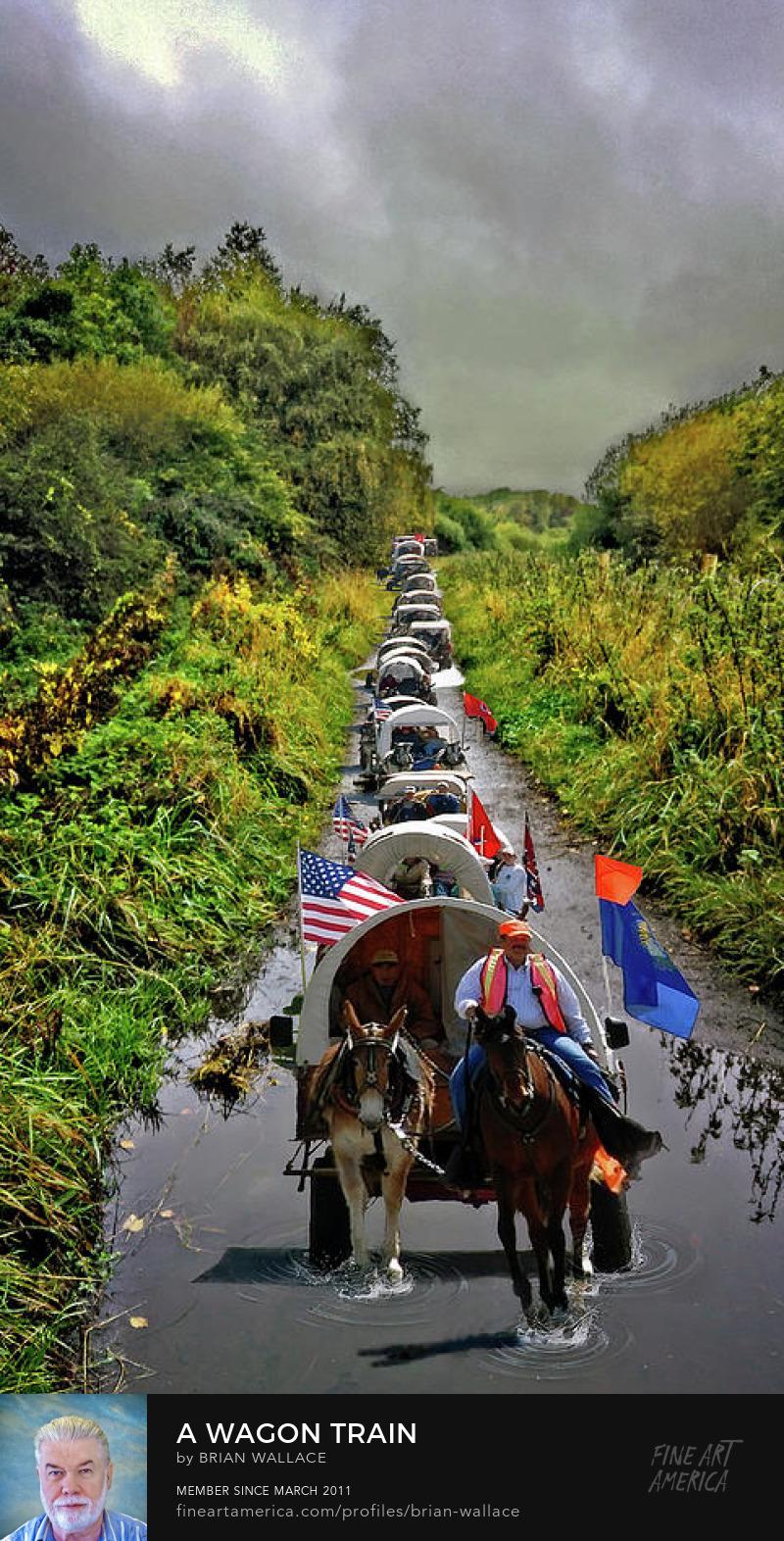 A Wagon Train by Brian Wallace