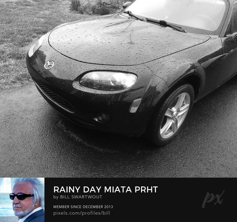 Mazda Miata PRHT in the Rain Art Print