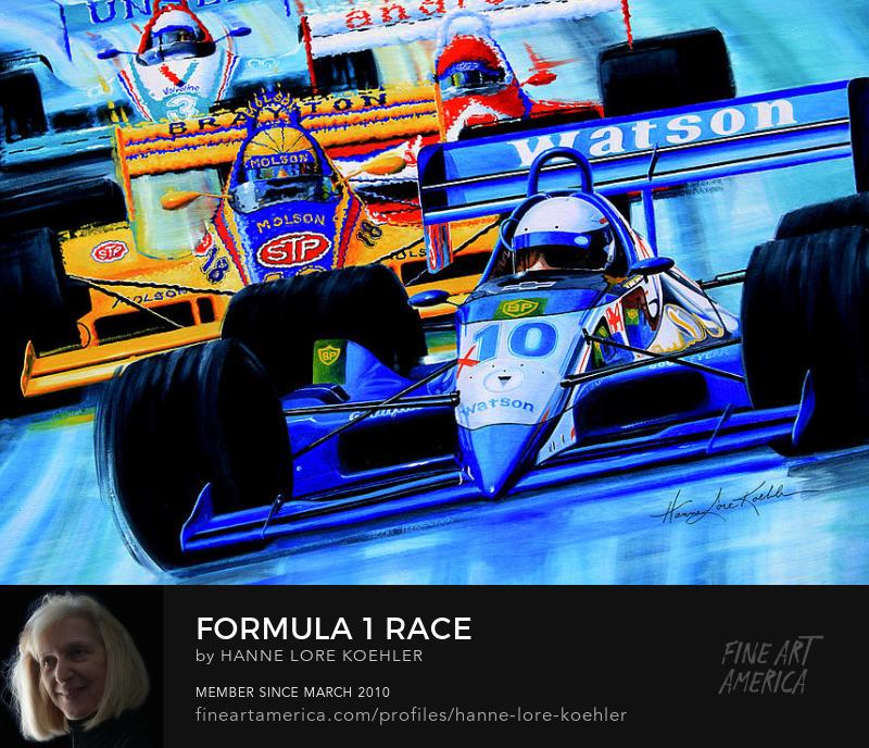 Grand Prix Race car Art Prints for boys room decor