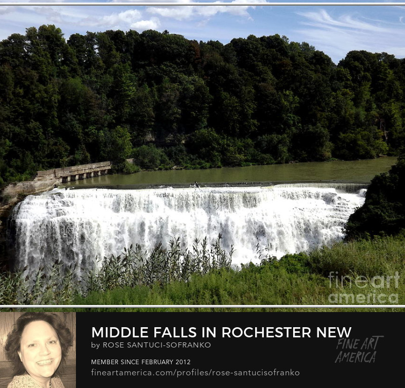 Middle Falls In Rochester New York Art Prints