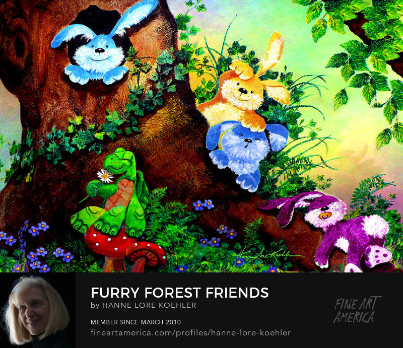 Forest Friends Animal Paintings For Baby Nursery