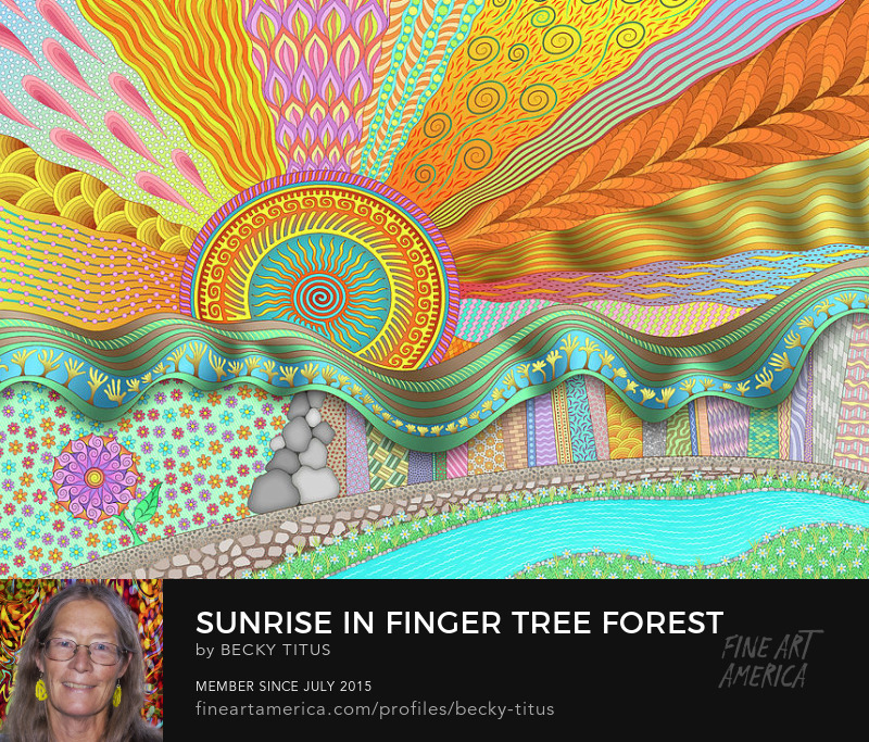 Sunrise In Finger Tree Forest by Becky Titus