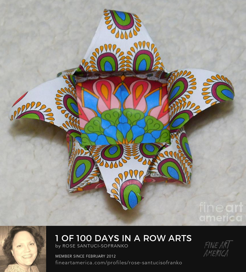 1 of 100 Days in a Row Arts and Crafts Challenge Origami Basket