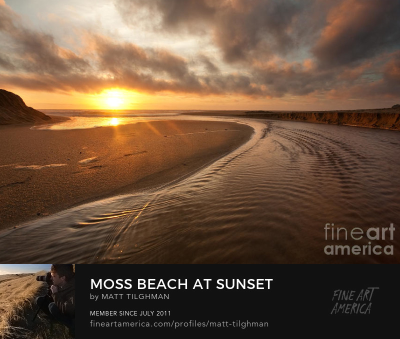 Montara Beach at Sunset Photography Prints