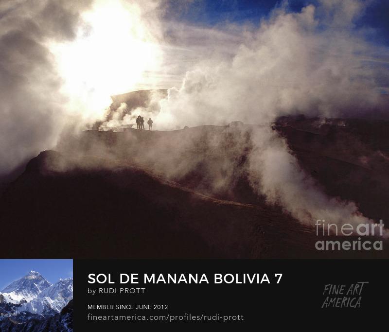Sol de Manana Bolivia by Rudi Prott
