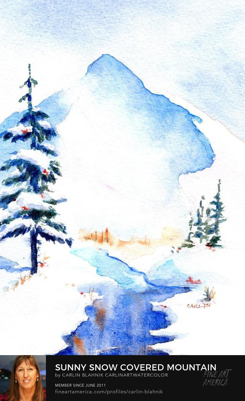 Watercolor Painting Print by Carlin Blahnik