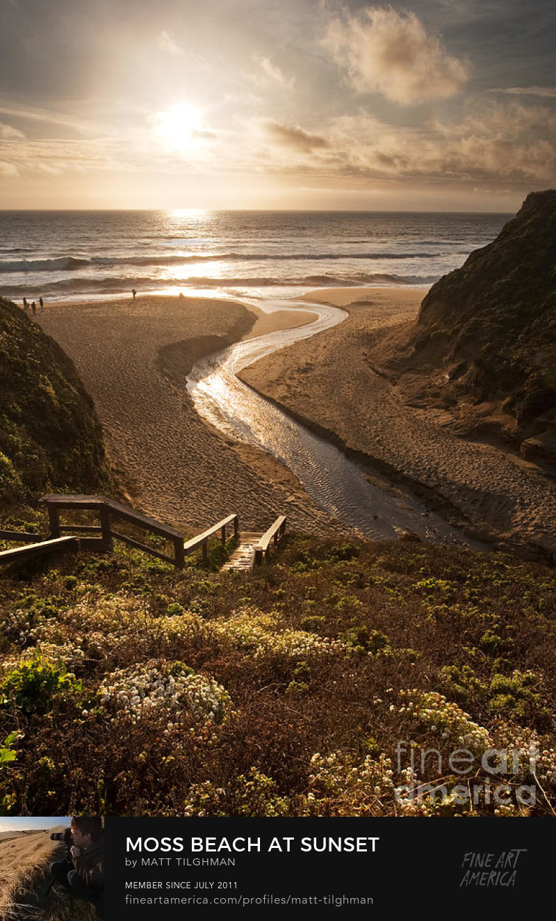 Martini Creek Montara Beach Photography Prints