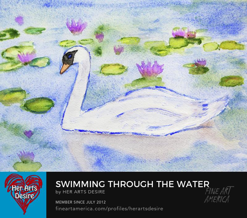 Gentle Swan In Watercolor
