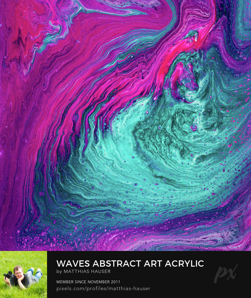 Waves Abstract Painting Acrylic Pour