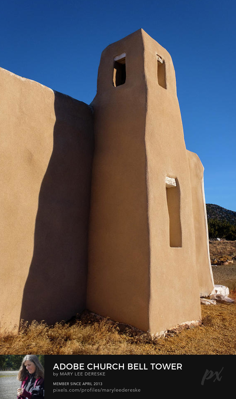 adobe-church-bell-tower-in-golden-new-mexico-mary-lee-dereske
