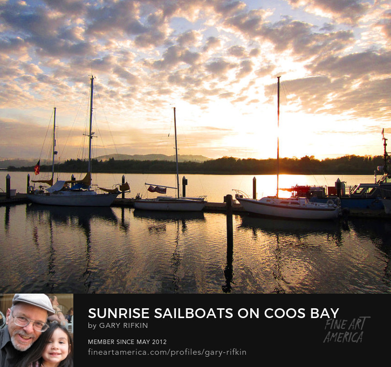 Sailboats on Coos Bay, Oregon