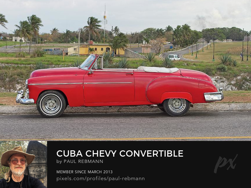 View online purchase options for Cuba Chevy Convertible by Paul Rebmann