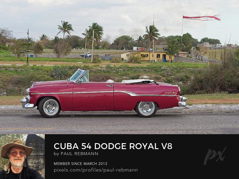 View online purchase options for Cuba '54 Dodge Royal V8 by Paul Rebmann