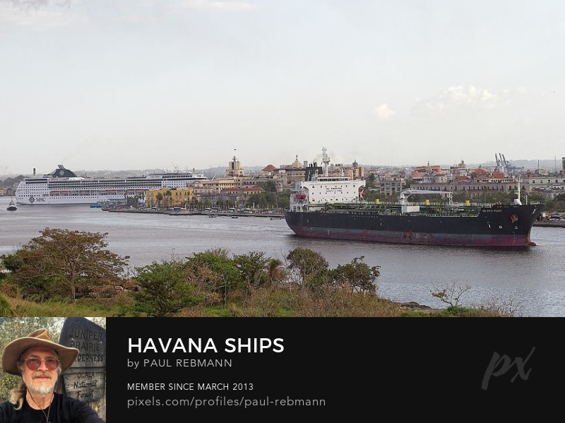 View online purchase options for Havana Ships by Paul Rebmann