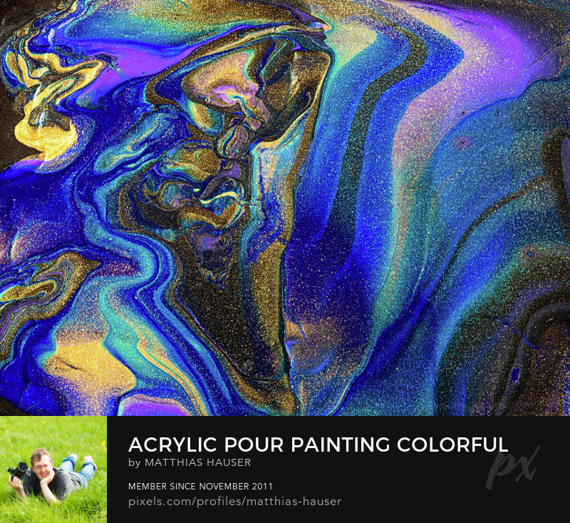 Acrylic Pouring with Jewel Colors Art Print