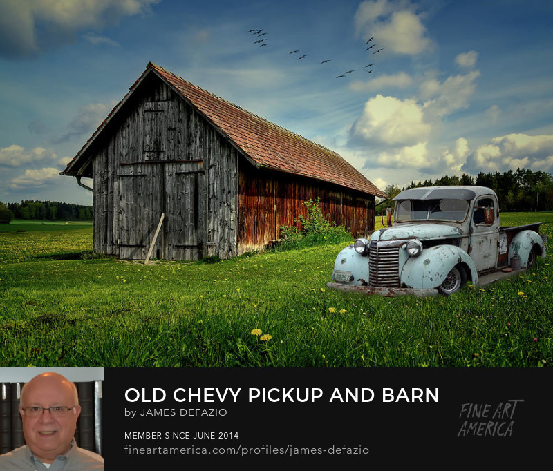 Old Chevy Pickup and Barn