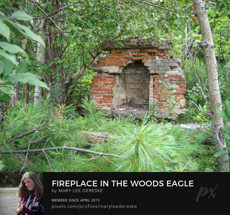 fireplace-in-the-woods-eagle-river-michigan-mary-lee-dereske