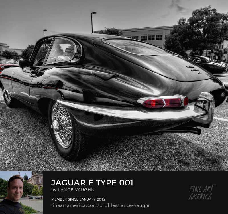 Jaguar E Type sports car photography by Lance Vaughn