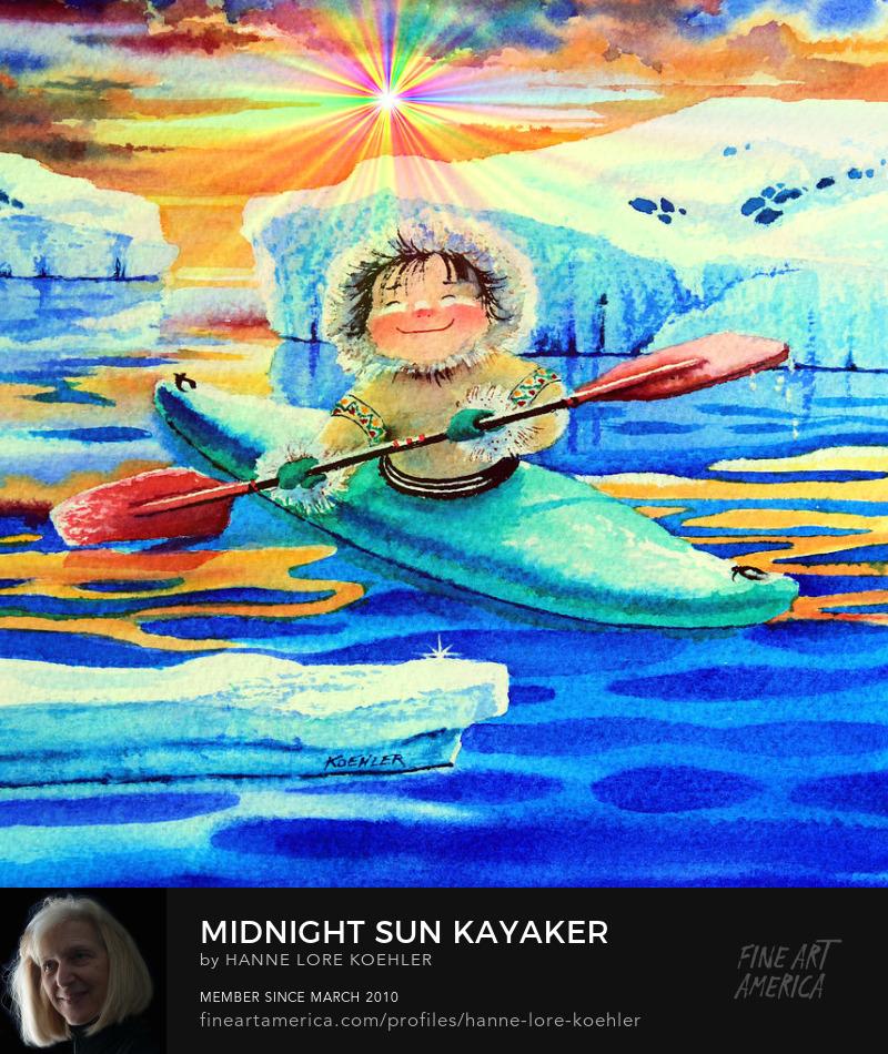 Kayaking Art Prints For Kids Room Wall