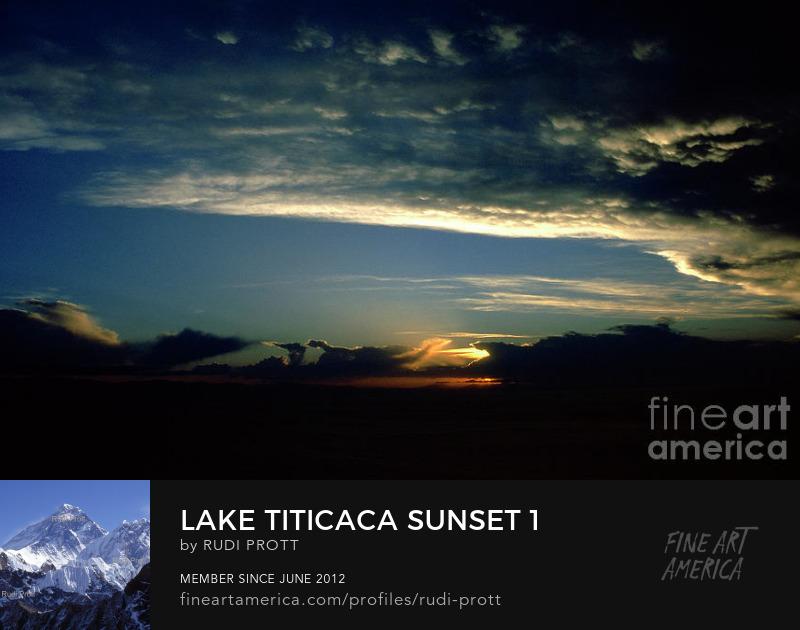 Lake Titicaca sunset by Rudi Prott