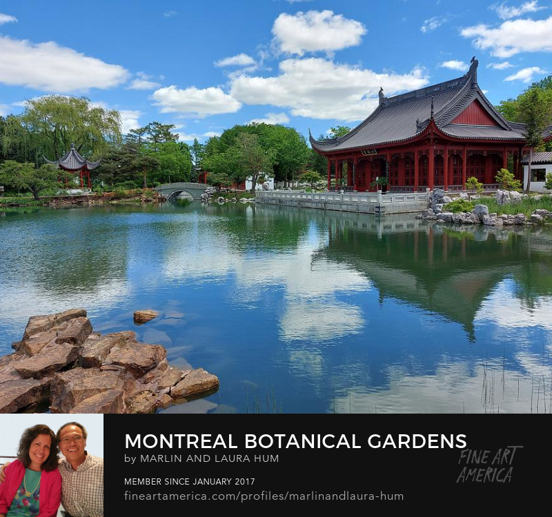 Montreal Botanical Gardens Chinese Pavilion by Marlin and Laura Hum