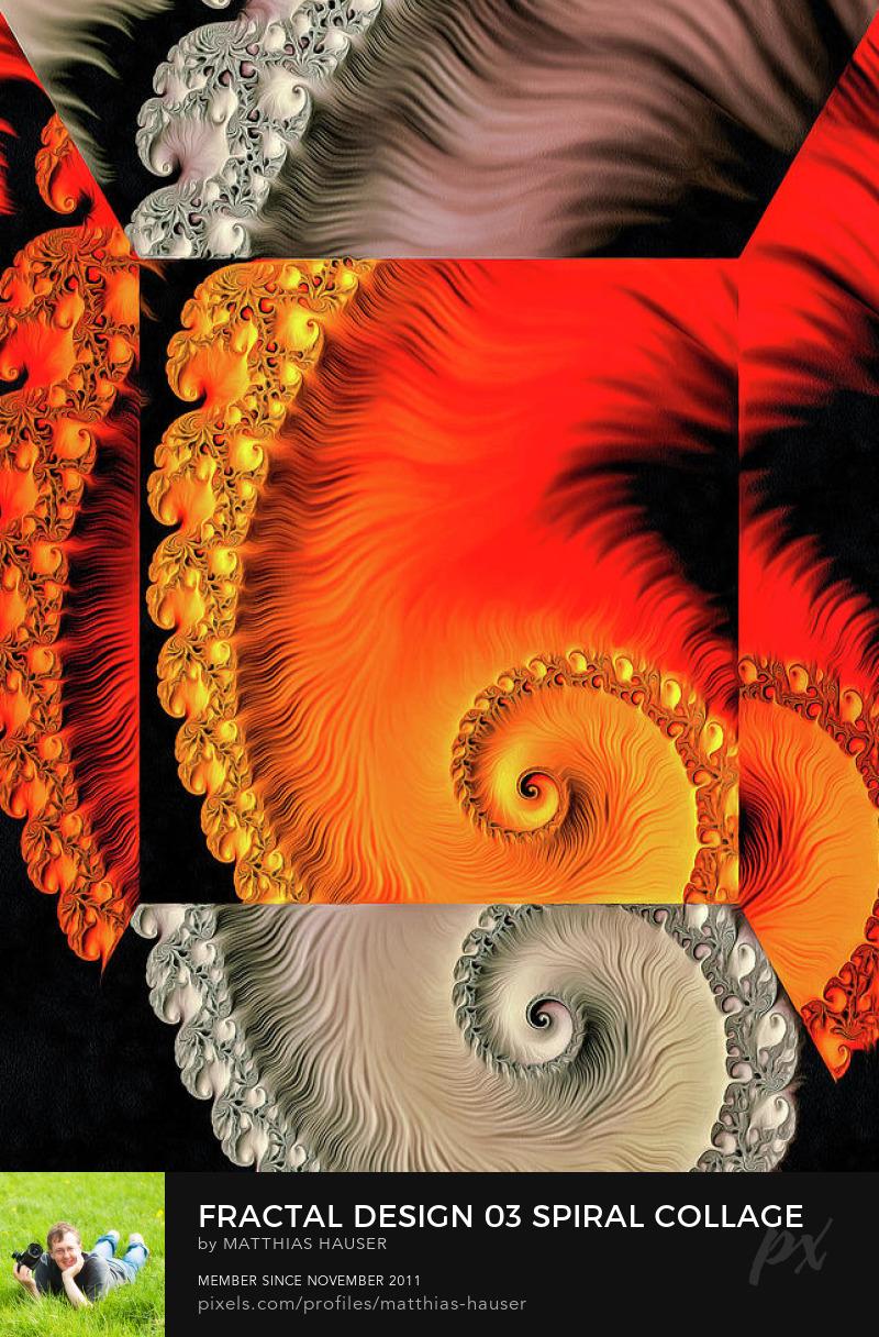 Fractal Spiral Design Art Print