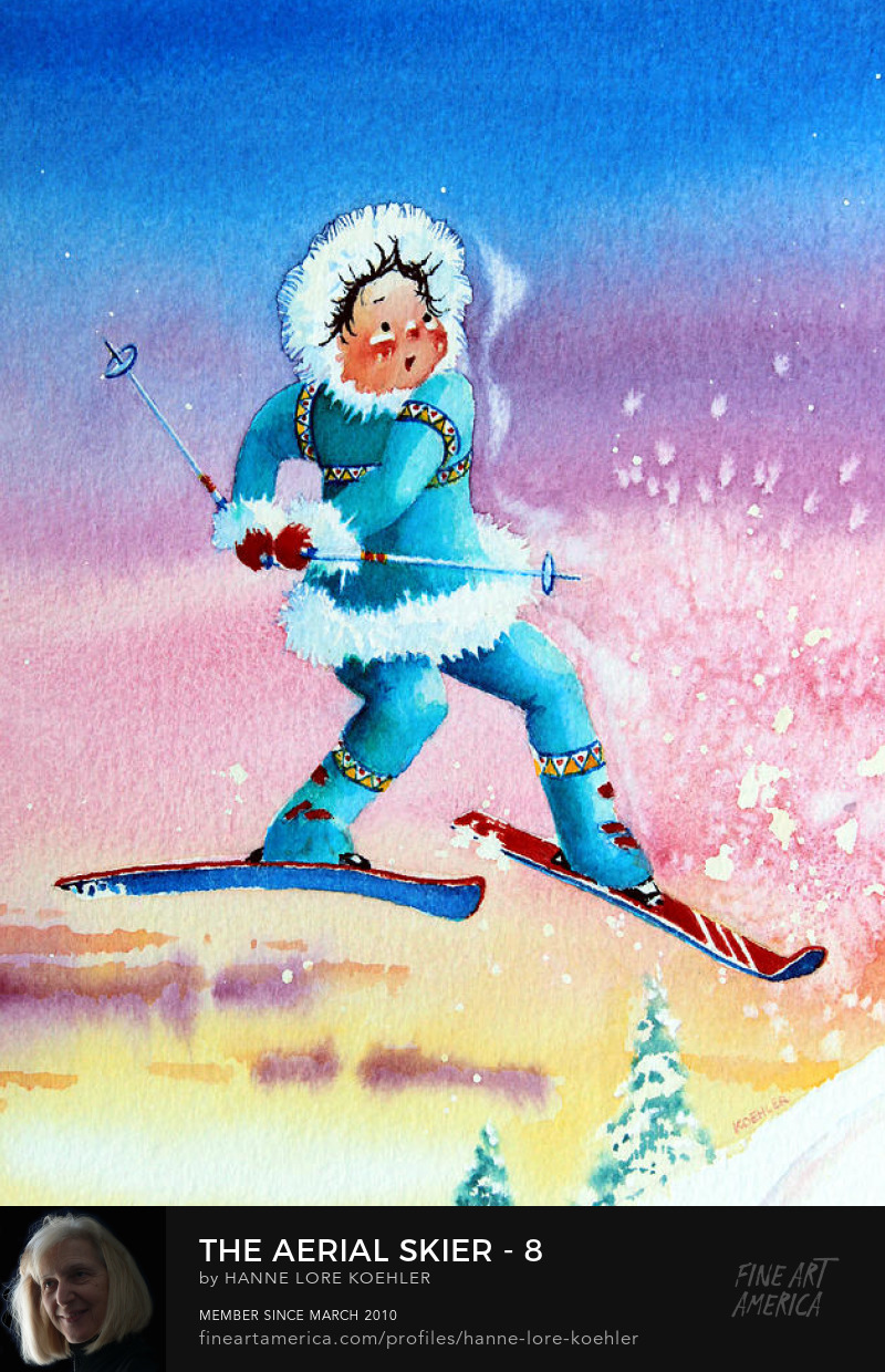winter sports Art Prints for kids