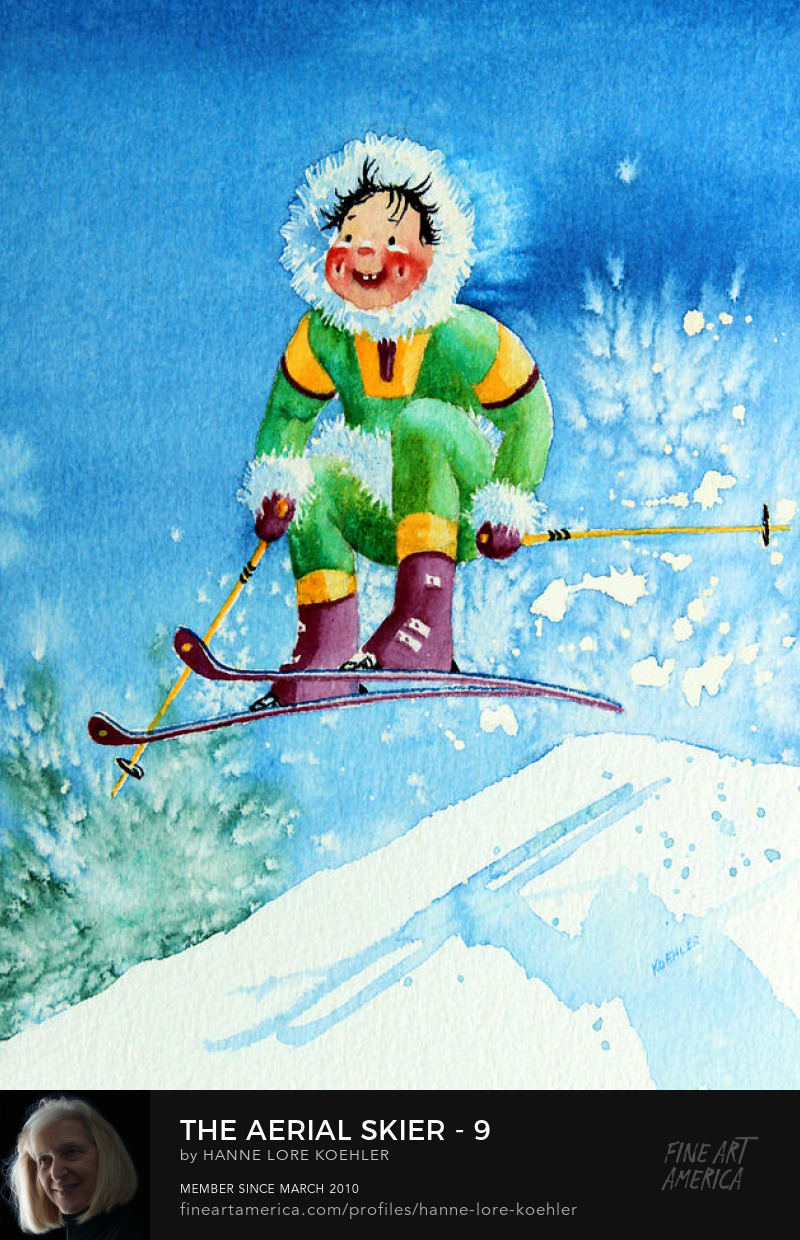 ski art Prints for kids