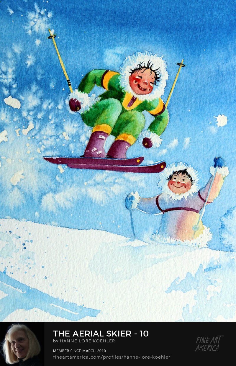 ski art Prints for children