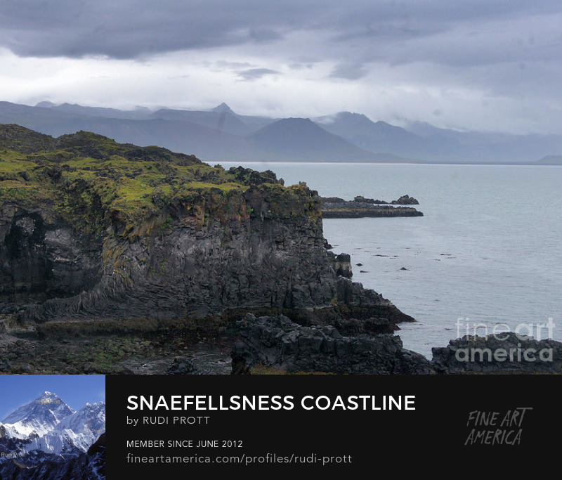 Sneafellsnes coastline by Rudi Prott