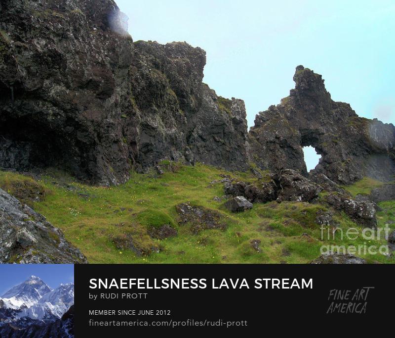 Sneafellsnes lava stream by Rudi Prott