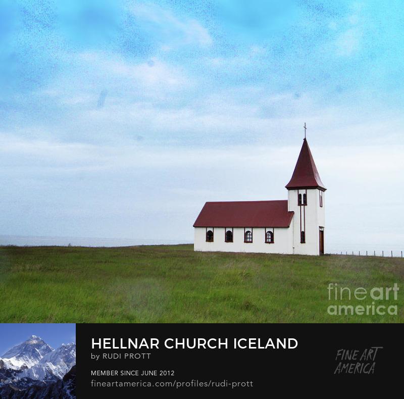 Hellnar church Iceland by Rudi Prott