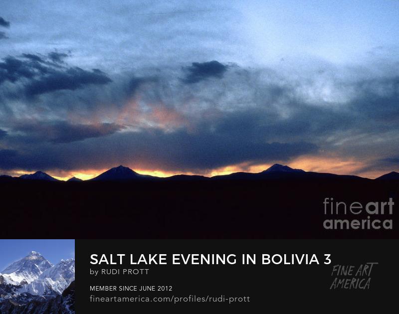 salt lake evening in Bolivia by Rudi Prott