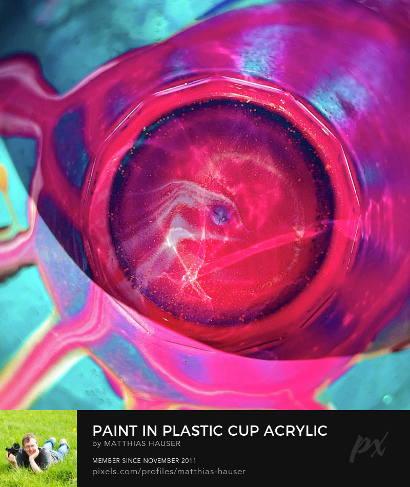 Acrylic Paint Leftover in Plastic Cup