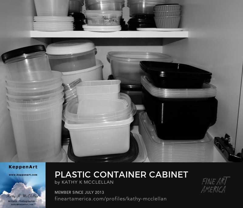 Plastic Container Cabinet by Kathy K. McClellan