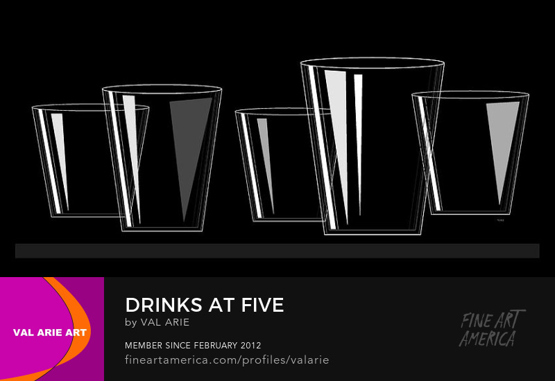 Drinks at Five by Val Arie