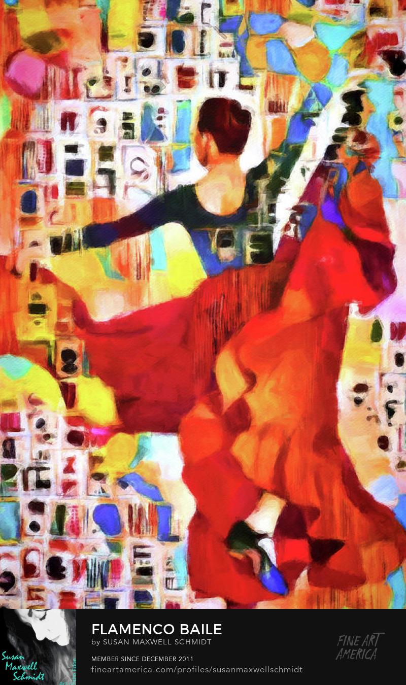 Flamenco Baile Art Print by Susan Maxwell Schmidt
