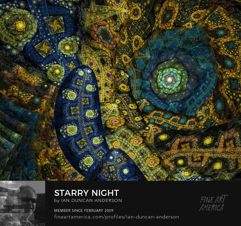 buy print of 'Starry night' at Fine Art America