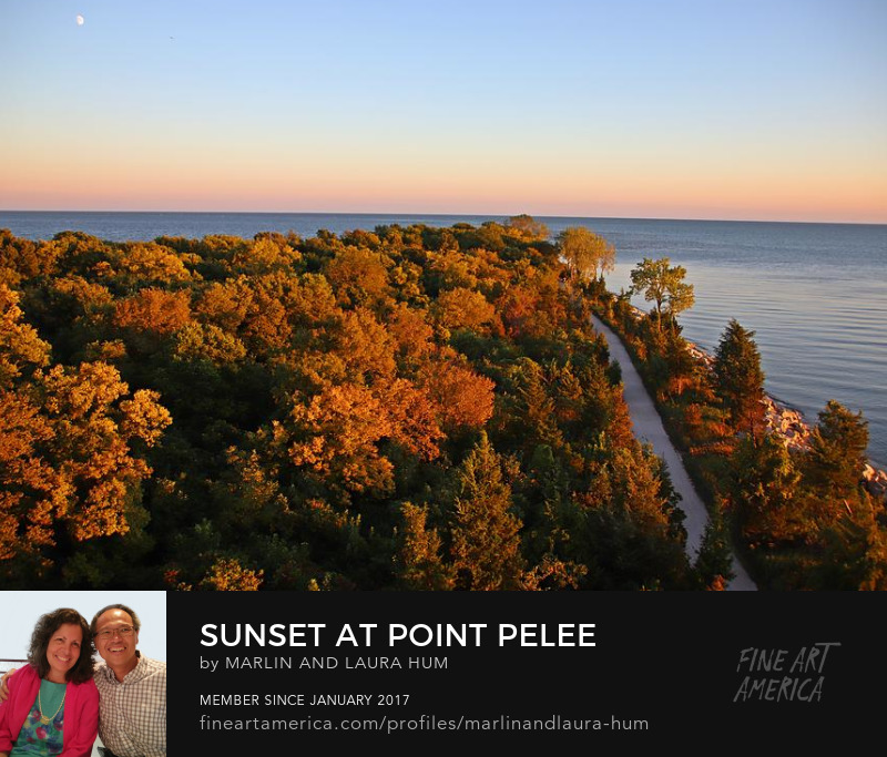 Sunset at Point Pelee by Marlin and Laura Hum