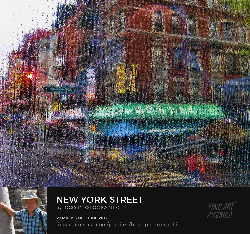 Street Through Rainy Window