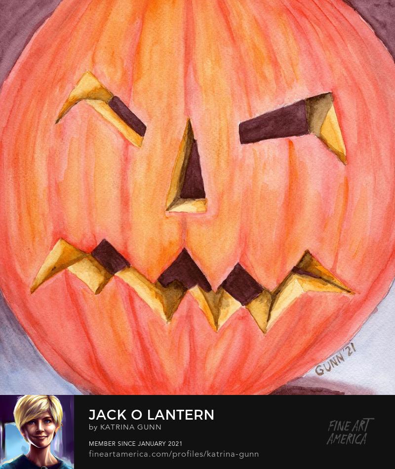 orange Halloween carved pumpkin
