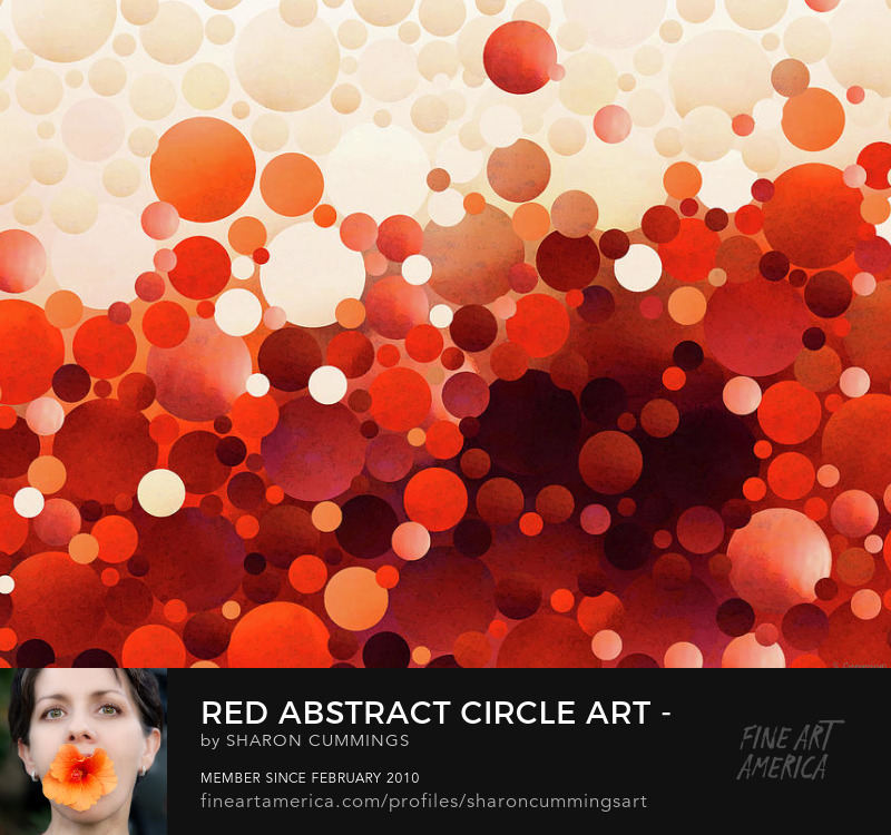 Abstract Red Art