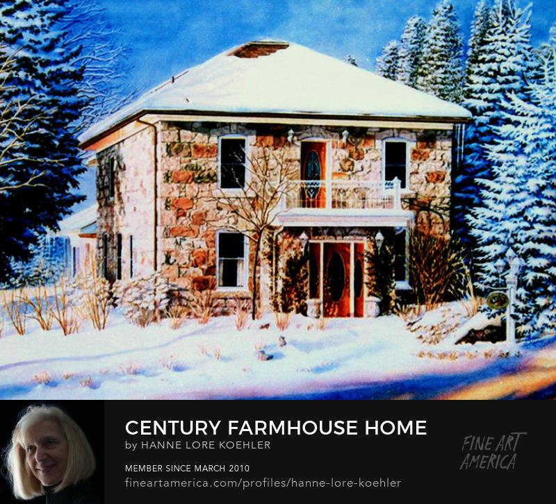 Country Farmhouse Portrait